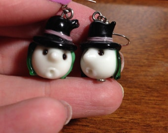 Witch Lamp work earrings - Halloween