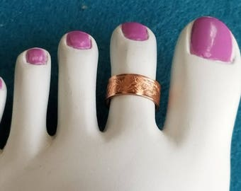 Solid Copper Toe Ring Adjustable
