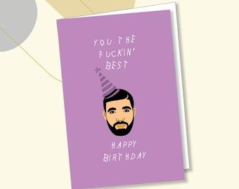 Drake Greeting Cards (2 Pack) - Wishing Birthday Card // Funny Birthday Cards // Greeting Cards