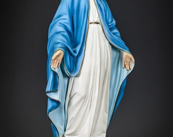 "Virgin Mary Processional Statue | French Madonna Figure | Immaculate Conception of the Blessed Virgin Mary | 24"" Large"