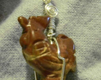 Gemstone Rooster Necklace