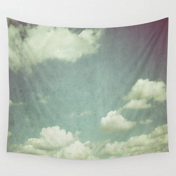 Cloud Tapestry, Cloudy Sky Tapestry, Clouds Large Wall Decor, Photo Tapestry, Modern, Wall Hanging, Nature, Cloud Formation, Dorm, Office