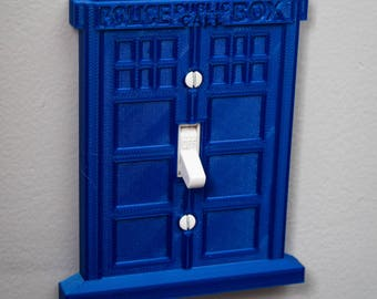 Dr Who Tardis light switch cover plate 3D printed