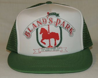 VTG Bland's Park Capital Tipton, PA One Size Fits All Snapback Baseball Hat / Trucker Cap DelGrosso's Theme Park