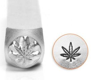 Metal Stamp-Hemp Leaf/Pot Leaf ImpressArt-6mm Metal Design Stamp-Metal Stamping Tool-Steel Stamp-Metal Supply Chick-SC156AI