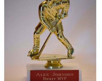 Personalized Hockey/ Sports Trophy - Sports Figure Award - Free Engraving