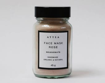 Clay mask,organic face mask,face mask,rejuvenating mask,facial mask,vegan mask,glowing skin mask,detox mask,purifying face mask,handmade