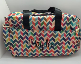 Monogram diaper bag for girl or boy personalized chevron monogrammed diaper bag for girls monogram baby girl diaper bag personalized baby gift baby shower gift personalized diaper bag chevron negle