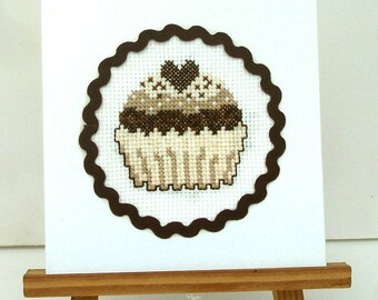 Card Cup Cake chocolate birthday, holiday, text