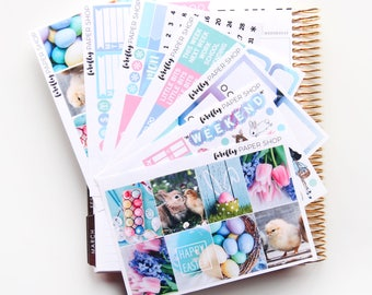 Easter DELUXE Weekly Kit (stickers for Erin Condren Life Planner - Vertical)