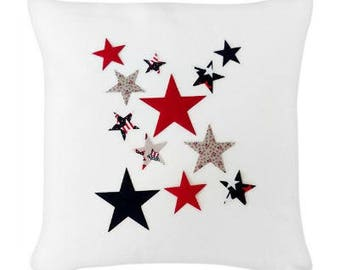 Iron on Fabric Stars, DIY Patriotic 4th of July Applique Kit, Iron On Red White and Blue Stars, DIY T Shirts, Tote Bags, Pillows, Home Decor