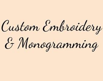 Embroidery Monogram Custom Design 40 colors