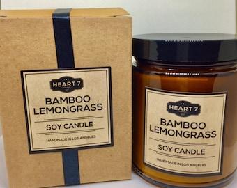 Bamboo Lemongrass Soy Candle