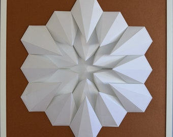 Tableau 3D Origami Wall Art - Gravité