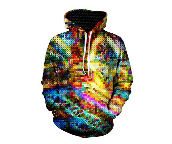 Rainbow Bubbles Hoodie - Colorful Trippy Bubble - Festival Clothes - EDM Jumper - Cool Clothing 6uFbVCyeV