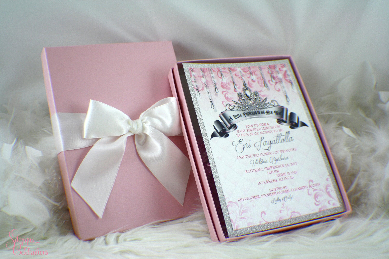 Princess box invitation fairytale invitation baby shower zoom monicamarmolfo Gallery