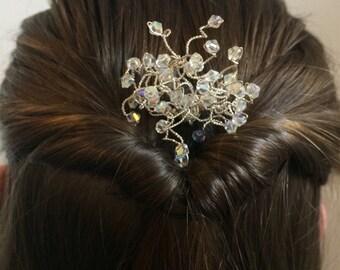 Crystal hairpin. crystal wedding hair accessories. Crystal bobbie pin.  Bridal hair jewellery. Crystal hair pins. Wedding hair accessories.