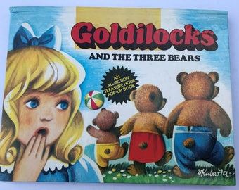 Goldilocks and the Three Bears Pop-Up Book Vintage Children's Book