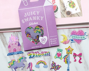 Set Of 50 Glittered Princess Dreams Stickers