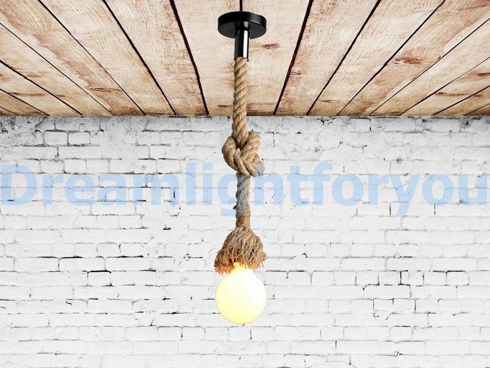 Hemp rope Pendant light Manila rope Jute rope kitchen