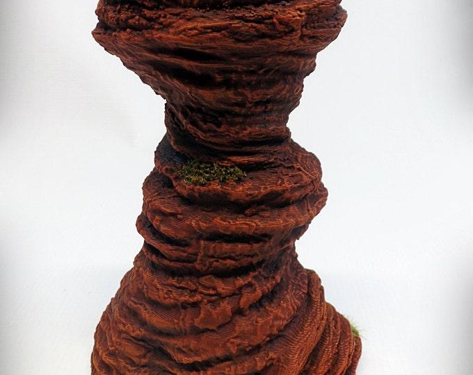 Wargame Terrain - Single Spire B – Miniature Wargaming & RPG rock formation terrain - 6 inches tall