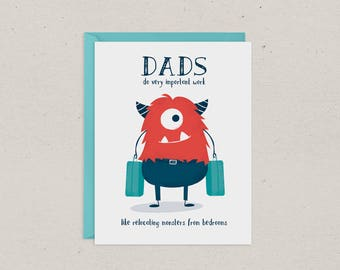 Fathers Day Card | Dad | Monsters | Funny