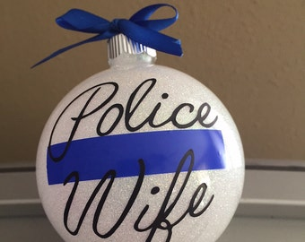 Police Wife ornament