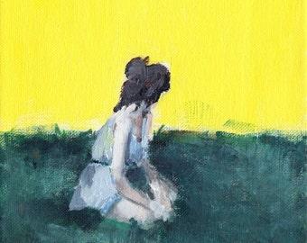 Grow - Figure Painting, Giclee art print, garden painting, inspirational art