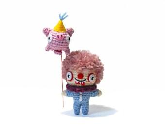 Clown - Amigurumi - crochet pattern
