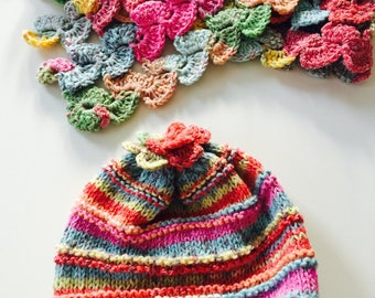 Scarf with hat for babies