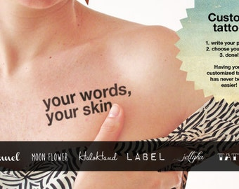 Personalized Temporary Tattoo (Set of 2)