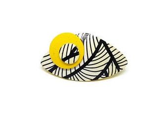 Yellow ring, Black and yellow ring, Statement ring, Modern ring, Fashion rings, Large ring, Black and white ring, Geometrical ring, Big ring
