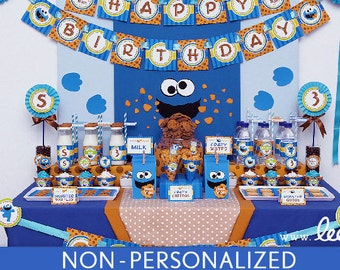 Cookie Street Birthday Party Package Collection Set Midi NonPersonalized Printable // Cookie Street - B48Nz2