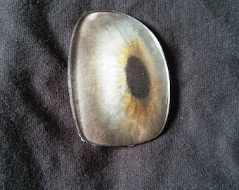 Upcycled spectacle lens Eyeball broach