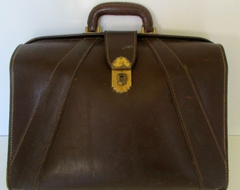 Vintage Leather Brief Case Brown Perfect for Laptop Bag
