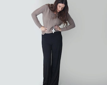 Women's Pants • Wide Leg Palazzo • Petite and Tall Length Pant Bottoms • Ethically made in our USA loft • L415 & Co Clothing (#415-30)