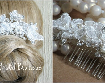 Hair comb Wedding hair comb Wedding hair piece Bridal headpiece Ivory lace hair comb Lace headpiece Bridal hair comb Lace bridal comb