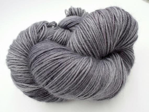 Hand Dyed Yarn Hand Dyed Sock Yarn Superwash Merino Nylon Blend 80/20 Fingering Weight Yarn - Grey Sock Yarn - Tonal Grey Yarn - Ash