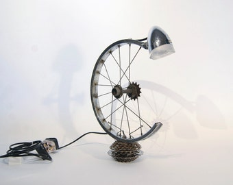 Bicycle wheel desk lamp - L7