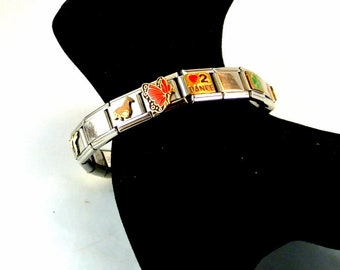 Stainless Steel Stretch Bangle Bracelet Interchangeable Charms Expandable Bangle Various 9mm Charms Vintage 90 Bracelet