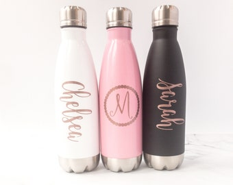 Personalized Water Bottles - Monogram Water Bottle - Gift For Her - Name Water Bottle - Birthday Gift for Her - Workout Gift - Gift for Mom