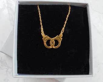 Gold Handcuff Necklace | 24k Gold Plated Handcuff Necklace | Bestfriend Necklace | Bridesmaid Necklace | Dainty Necklace |