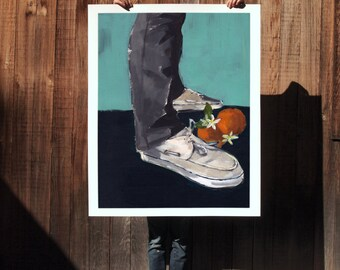 Boat Shoes . extra large wall art . giclee print