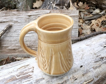 Pottery Mug Wheat Golden Ambrosia Handmade by Daisy Friesen