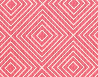 Patty Young for Michael Miller Diamonds in Salmon - 1/2 yard