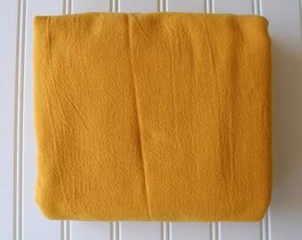 Vintage Fabric - Cotton - Bright Marigold - Gold - Yardage - Gauze Texture
