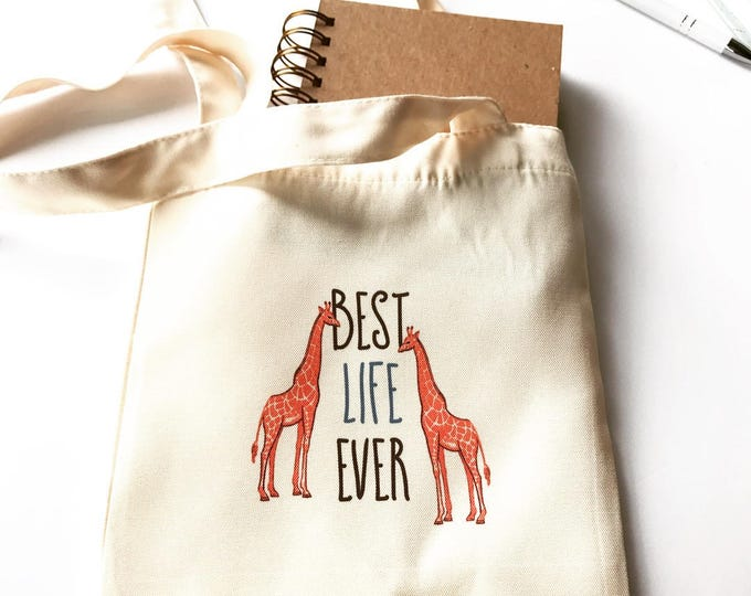 Best Life Ever Small Canvas Bag