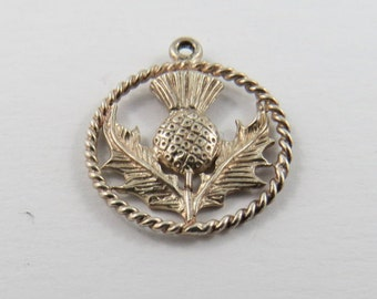 Thistle Sterling Silver Charm or Pendant.