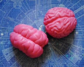 2 x Brain Soaps  - zombie, brain, party favor, halloween, doctor - birthday gift