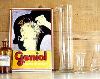 Antique Pharmacy Glass Beaker Measuring Jars, Pharmacist Gift, Glass Apothecary, Beaker Vases, Pharmacy Cylinder, Chemists Bottle